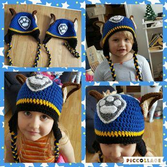 b21c7513f86 Paw Patrol crochet Chase earflap beanie