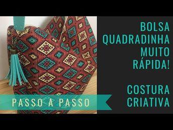 BOLSA MUITO RÁPIDA - COSTURA CRIATIVA - YouTube