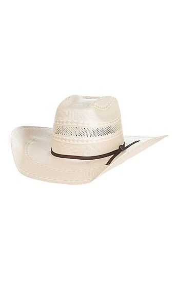 Cowboy Collection 10X Two Tone Vented Cown Straw Cowboy Hat 9ba8a29e4f96