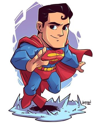 """Day 03 at Fan Expo Canada starts in a bit! Things are about to get hectic!! If you can't make it to the show you can grab this print of Chibi Superman from www.dereklaufman.com """"link in my profile""""..."""