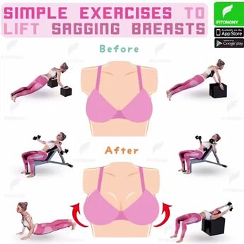 6 SIMPLE EXERCISES TO LIFT YOUR BREASTS! -  health-fitness