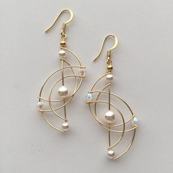 Unique Wire Art Sculpture Woven Earring. *We hand make all our jewelry. Due to high volume of orders, please allow 1-2 weeks for delivery. #wirejewelry