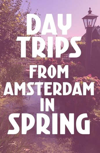 10 Day Trips from Amsterdam in Spring - fun places to go in Holland in April & May