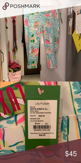 c2b796d5b6c6 Lilly Pulitzer Weekender Cropped Leggings Lilly Pulitzer UPF 50+ Weekender  Cropped Leggings Color: Seaside