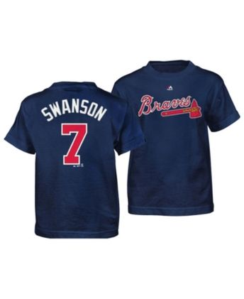 Majestic Dansby Swanson Atlanta Braves Official Player T-Sh ee01ca0b1