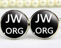 custom square cuff links & tie clip, tetragrammaton cufflin