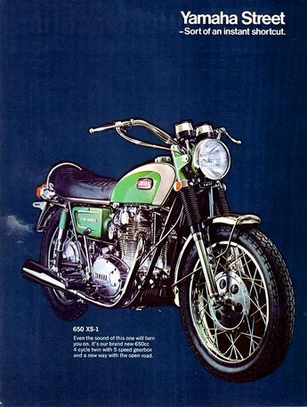 1970 Yamaha 650 XS-1 #classic #motorcycles #motos | caferacerpasion.com