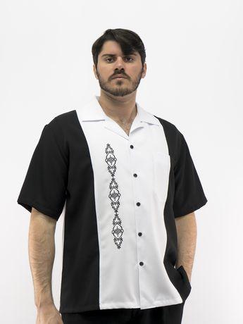 2e84ccb90a Cuban Retro Shirt Men s Casual Shirt White Embroidered Made in Miami USA  D Accord 5878