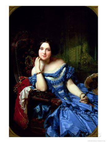 Portrait of Amalia De Llano U Dotres (1821-74), Countess of Vilches, 1853 Giclee Print by Federico de Madrazo y Kuntz