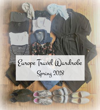 Spring Travel Wardrobe | May 22, 2018 | une femme d'un certain âge | How to pack for France or other European destinations. See what I've chosen and tips for a Europe travel wardrobe that fits in a single suitcase.