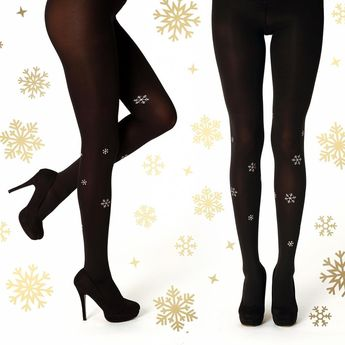 1e71acbaf Super elegant golden snowflake tights in our webshop!