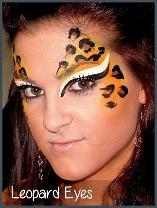 leopard eyes face painting by mimicks