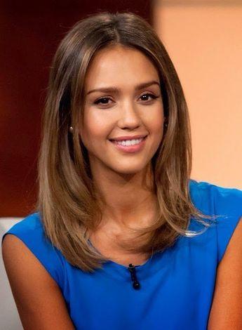 Medium Length Straight Brown Hair With Layers Google Sear