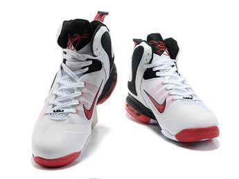 new arrival dcea4 1e3b8 Nike LeBron 9 Home White Black Sport Red,Style code 469764-003,