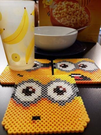 Minion Coasters Perler Bead (Set of 4)