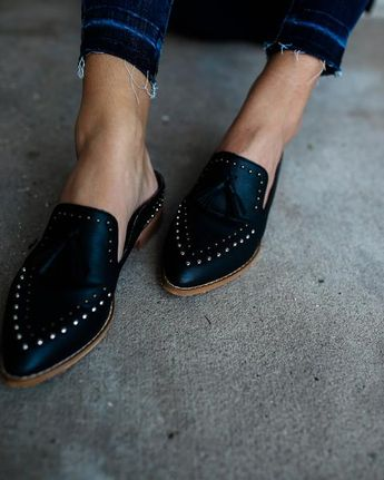 2a5203be2d6 Montana Studded Tassel Loafer Mule