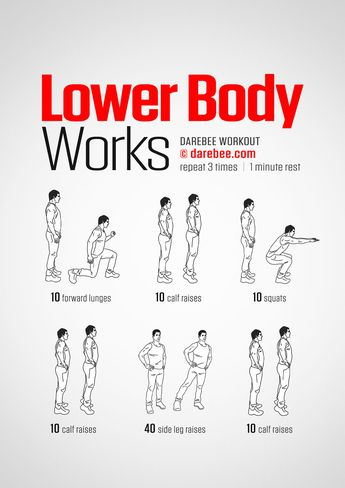 Lower Body Works workout.