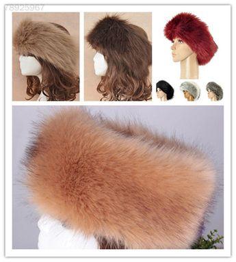 eb3fde20180 C9A5 New Russian Thick Fluffy Fox FAUX Fur Headband Hat Winter Ear Warmer  Ski.