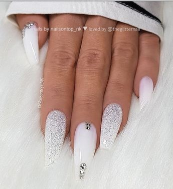 40 Pretty Nude & Ombre Acrylic And Matte White Nails Design For Short And Long Nails -
