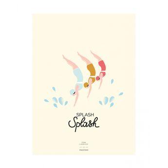 L'affiche Baigneuses Splash Splash - Zina Lahrichi x émoi émoi