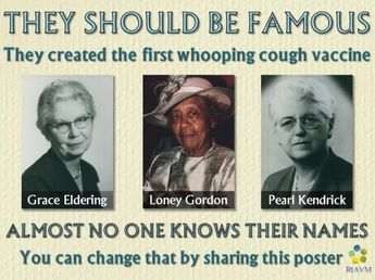 These unknown women created the whooping cough vaccine. Make them known - share this!