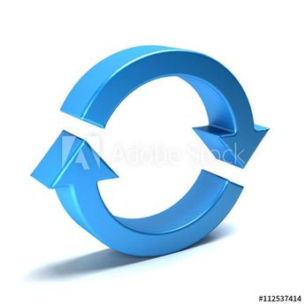 Circular arrow. Redo, Cycle, restart, loop concepts. 3D rendering illustration  #arrow #symbol #refresh #icon #reload #undo #pictogram #repeat #rotation #right #reset #directional #forward #circle #next #round #direction #rewind #synchronize #loop #circular