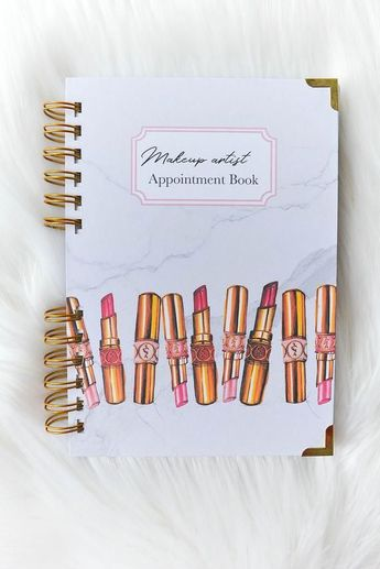 Make-up Artist Appointment Book, Facechart for makeup artists, Makeup Artist, Makeup Planner, Makeup Agenda, Makeup notebook
