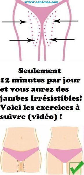 Seulement 12 minutes par jour et vous aurez des jambes Irrésistibles! Voici les exercices à suivre (vidéo) !