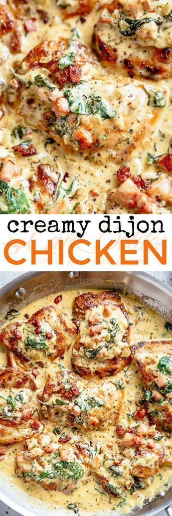 Creamy Dijon Chicken #food #recipe #foodrecipe #chicken #dinner