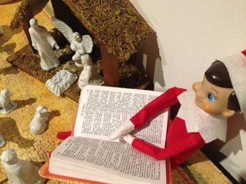 Elf on a Shelf with Jesus...talk about a mixed metaphor ;-)