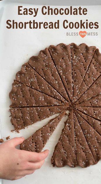 Easy Chocolate Shortbread Cookies