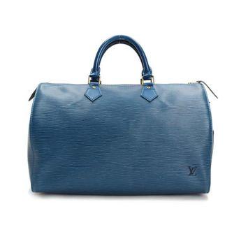 84832393a82d Louis Vuitton Speedy 35 Epi Handle bags Blue Leather M42995
