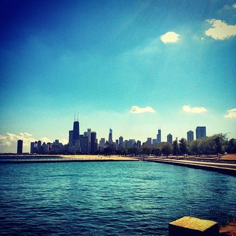 Fullerton Beach in Chicago, IL