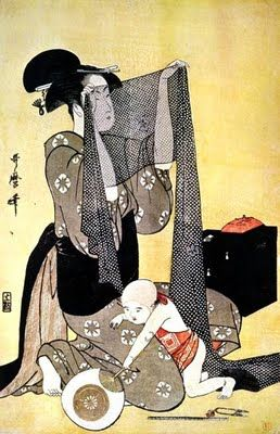 Kitagawa Utamaro. Ukiyo-e. The Beauties on the River Bank