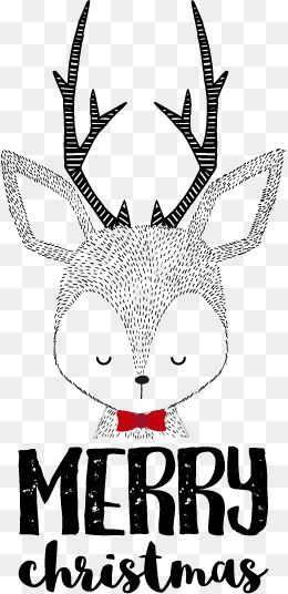 Retro Reindeer Paintings, Retro Vector, Christmas, Merrychristmas PNG and Vector with Transparent Background for Free Download