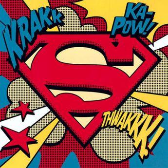 Superman (Pop Art Shield) - DC Comics Posters d'Art - Easyart.fr