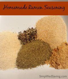Easy Homemade Ramen Seasoning