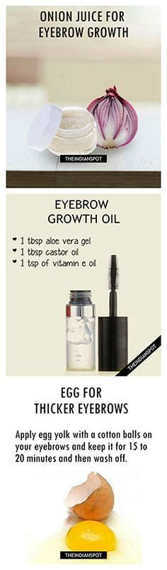 TOP 10 DIY PRODUCTS FOR FAST AND THICK GROWTH OF EYEBROWS