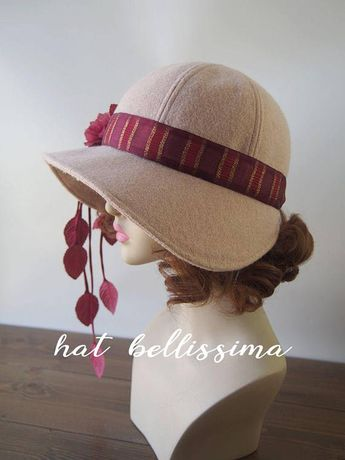 b0aeb18232d8 1920's Hat Vintage Style hat winter Hats hatbellissima ladies hats  millinery hats cloche Hats wool hats