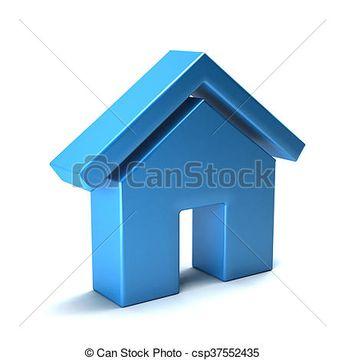 Realtor house logo. 3D rendering illustration - csp37552435