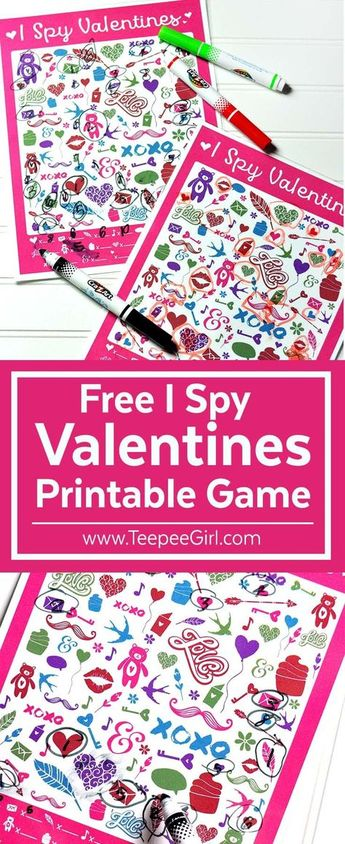 Free I Spy Valentines Printable Game