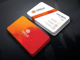 Orange Business Card Template - Graphic Templates