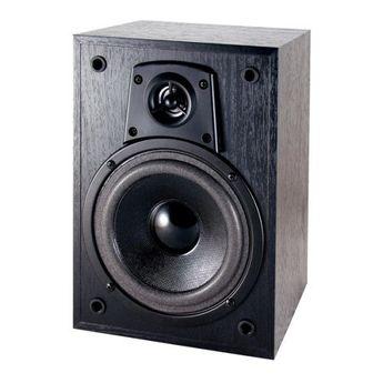 "Dual LS205EB  5.25"" 2-Way Bookshelf Speaker Each by Dual. $39.00. Sold As Each Woofer: 5.25"" Tweeter: 2"" titanium dome Nominal Impedance: 8 ohms Frequency response: 75Hz - 20kHz Sensitivity: 87dB RMS Power: 80 watts MAX Power: 160 watts Weight: 5.5lbs each Finish: Black wood grain vinyl Dimensions (H) x (W) x (D): 11"" x 7.1"" x 6"""