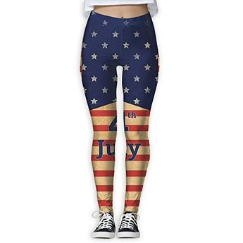 2d823e958bb Doppyee New 4th July Printing Design Compression Leggings Pants Tights For  Women S-XL