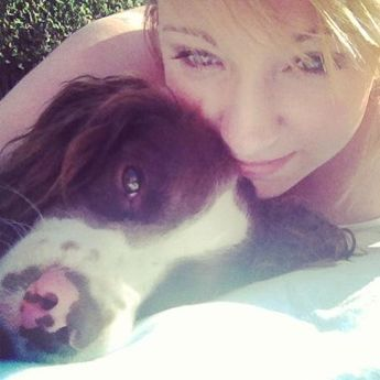 Me and my puppy <3