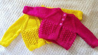 1a5d23fbf295 DK Prem - Ravelry  AMITY Baby Cardigan Jacket pattern by