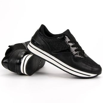 49de3738 Buty sportowe czarne E-102 Black