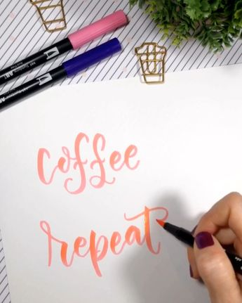 Brush lettering with Tombow Dual Brush Pens