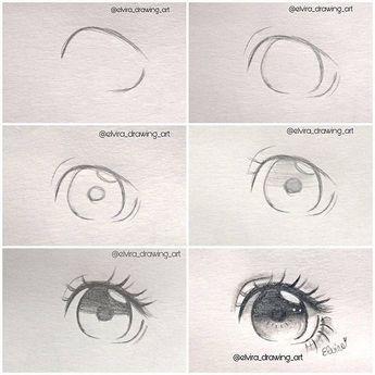 Como desenhar, olhos realistas de sombra, nariz e lábios com lápis de grafite