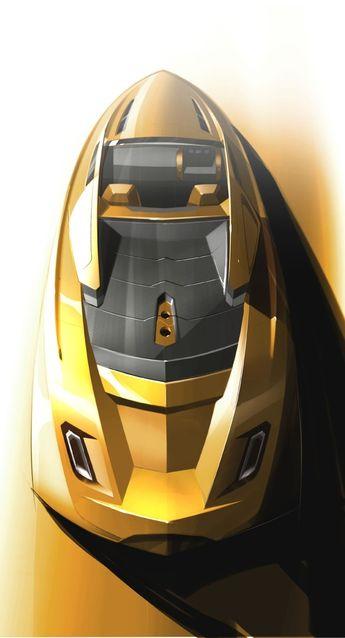 Motorboat sketches   Tony Castro Yacht Design